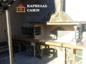 Νέα χτιστή ψησταριά BBQ με φουρνάκι στη Θήβα