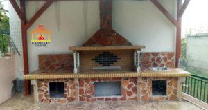 Νέο BBQ set χτιστή ψησταριά με πάγκο και νεροχύτη