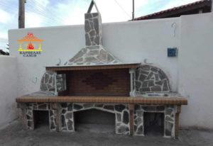 Νέο έργο BBQ set με δύο πάγκους στη Λιβαδειά