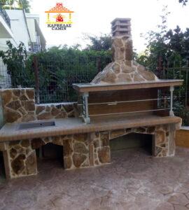 Νέα ψησταριά BBQ με πάγκο (νεροχύτη) στις Λιβανάτες Φθιώτιδας